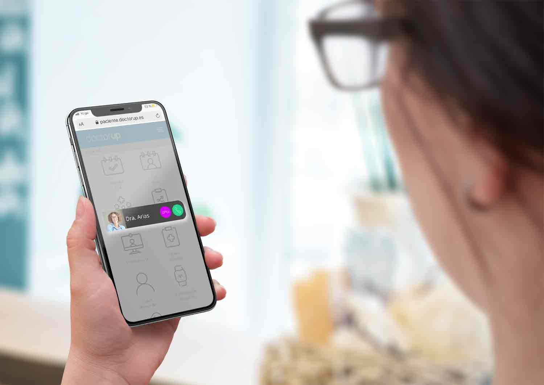 teleconsulta, llamada de doctor a paciente y nuevas funcionalidades